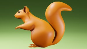 squirrel animal 3D model