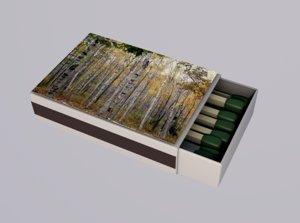 matchbox match box smoke 3D model