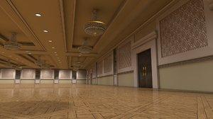 ballroom hotel 3D model