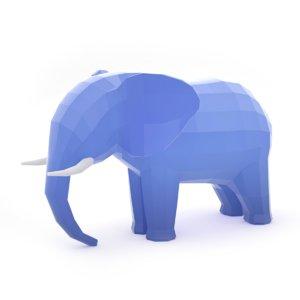 3D elephant politics logo
