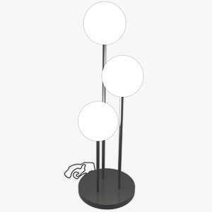 3D eliomoon floor lamp