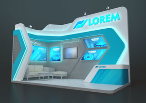 3D exhibition stand mzy 18
