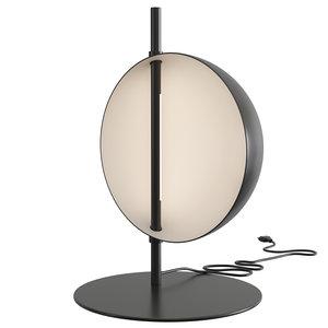 oluce superluna lamp table 3D model
