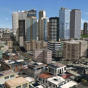 japanese streetscape tokyo 3D model