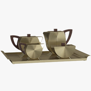 3D decoration 25 tea set model