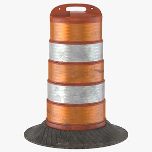 barrel barricade v-ray model