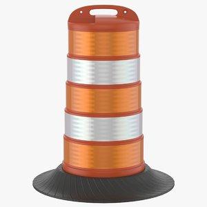 3D barrel barricade model