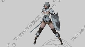 3D -product name: elf swordmaster