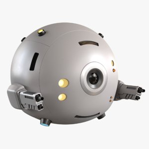 concept sci-fi drone 3D