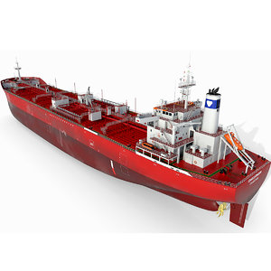 vessel tanker oil products 3D model