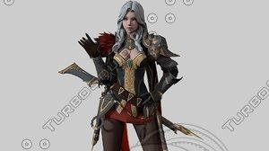elf swordmaster ready 3D