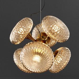 chandelier glass solar balloon 3D