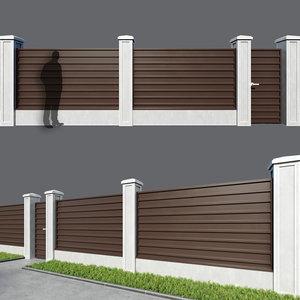 3D fence corrugated board