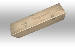 3D wood piece model