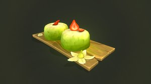 kiwi dessert 3D model