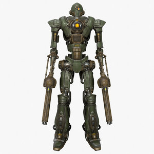 sci-fi military soldier mech 3D