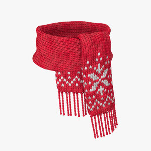 knitted scarf wool model