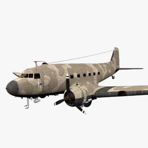 3D douglas c-47 skytrain