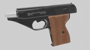 mauser hsc pistol 3D model