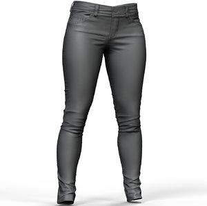 3D zbrush women s jeans model