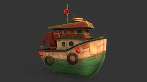 3D model tugboat tug boat