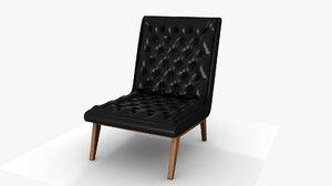 3D annetha century modern black model