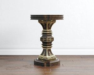 tables calenas art deco 3D