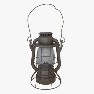 old kerosene lantern light 3D model