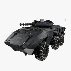sci fi apc 3D model