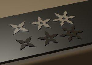 3D shuriken pack model
