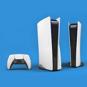 3D model sony playstation 5