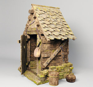 3D medieval outhouse