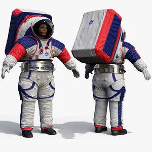 female astronaut nasa xemu 3D model