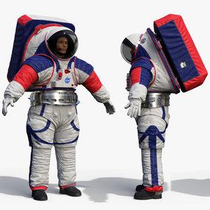 3D female astronaut nasa xemu