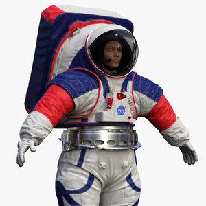 female astronaut nasa xemu 3D