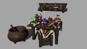 3D boiler set alchemy model