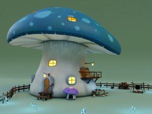 house scene 3D model