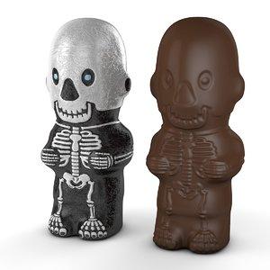 3D foil chocolate skeleton