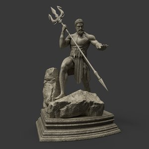 3D model marble bronze jade
