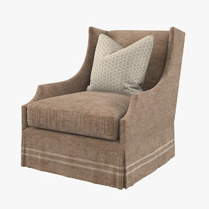 traditional wing chair 3D model