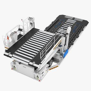 3D aircraft loader baggage