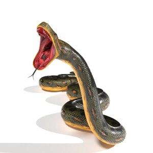 3D anaconda snake