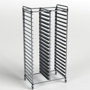 3D double canteen tray trolley