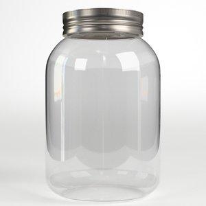 3D plastic jar model