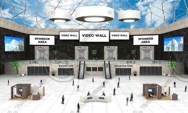 auditorium virtual 3D model