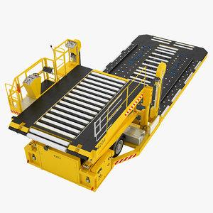 3D aircraft loader baggage model
