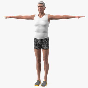 3D old man underwear neutral