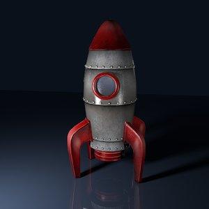 3D stylised rocket model