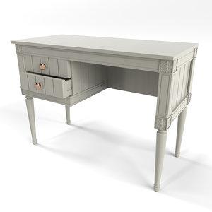 bourbon vintage compact desk 3D model