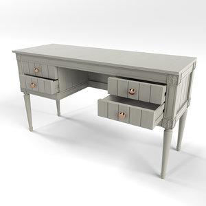 bourbon desk grey 3D